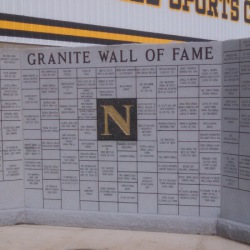 NHS Granite wall